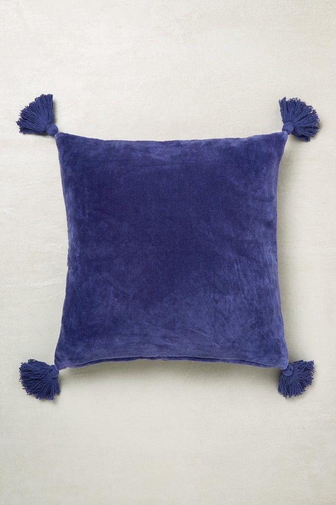 Next Velvet Tassel Cushion Blue, Large Throws For Sofas Next