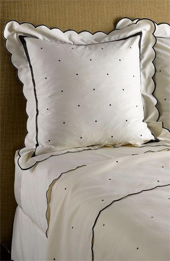 Kate Spade Piedmont Park bedding...polka dots and scalloped edges