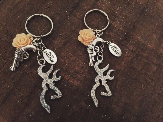 Country Girl Best Friend Keychains with Browning by AdelynElaines