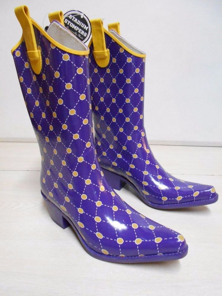 Purple Stadium Stompers Rubber Cowgirl Boots SIZE 7 Women's Boots NEW W/Tags #OccasionallyMade #StadiumStompers