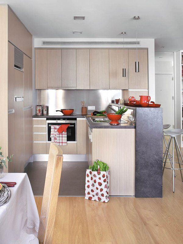 Cocina integrada al sal n unas chica cocinas for Cocinas modernas para apartamentos pequenos