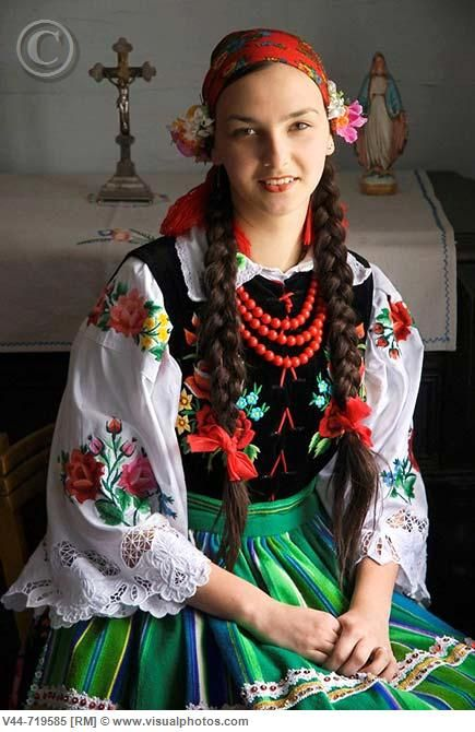 Traditional costume, Lipce Reymontowskie, Poland  Lisa Brown ♥♥ via Deanna Lane Rogers onto Our Tribes & Cultures of the World