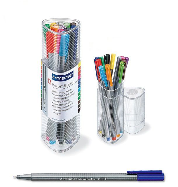 Staedtler Triplus Fineliner 334 PR12 Color Ink Pen 0.3mm Artist Office  #Staedtler