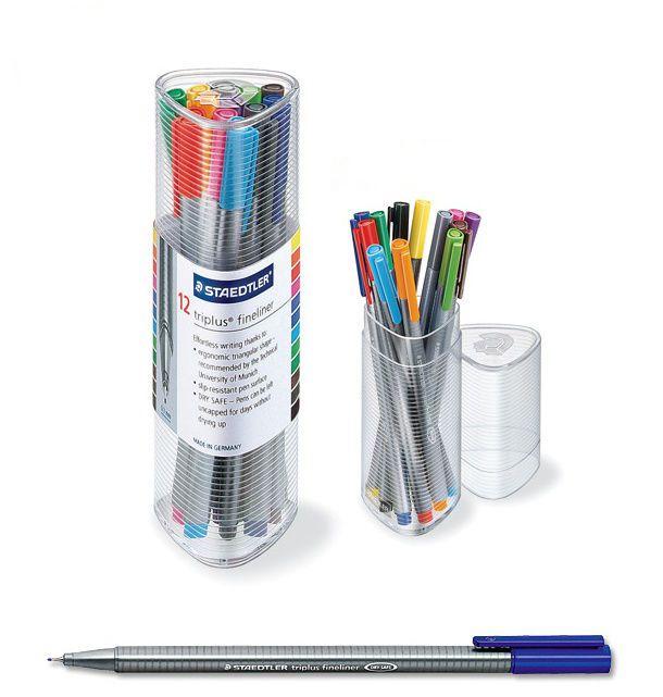 Staedtler Triplus Fineliner 334 PR12 Color Ink Pen 0.3mm Artist Office  #Staedtler