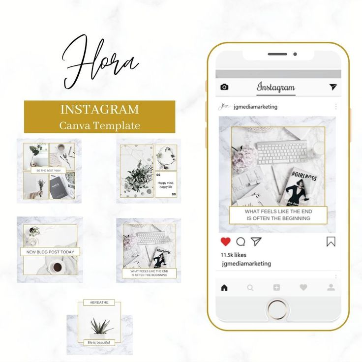 Flora Instagram Canva Template in 2020 Templates
