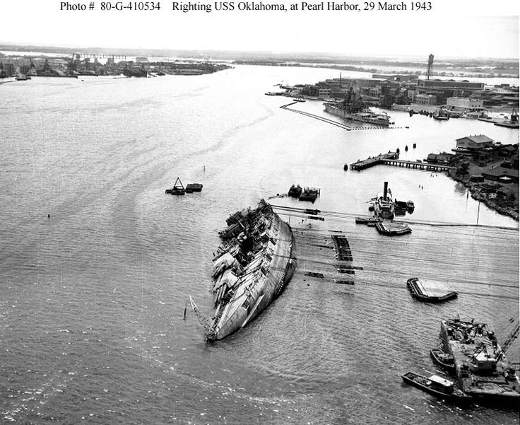 Righting USS Oklahoma at Pearl Harbor