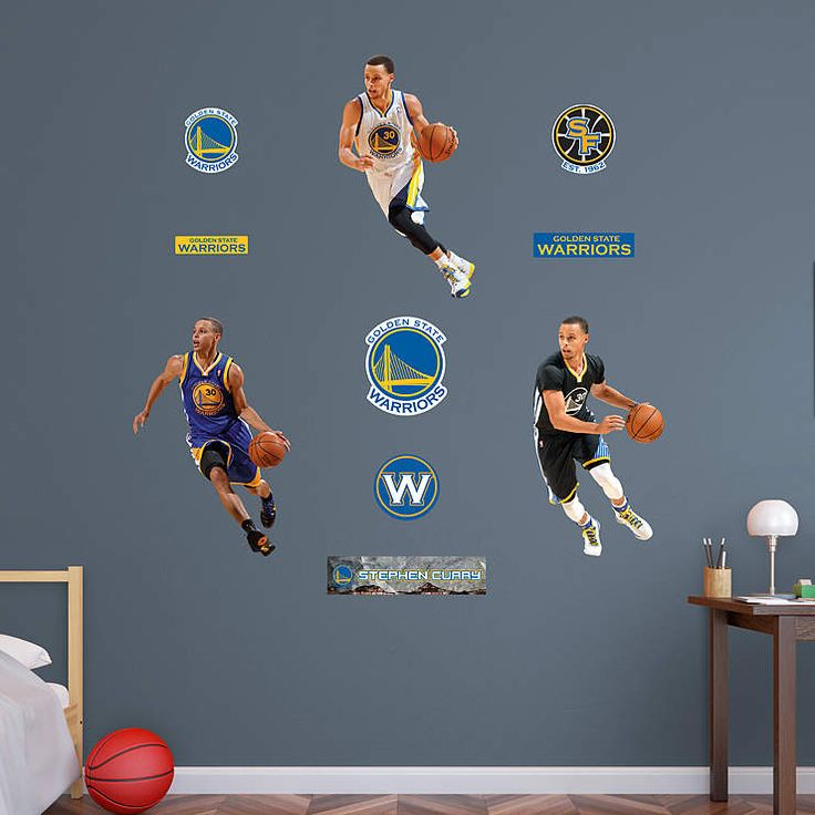 Stephen Curry Hero Pack Fathead Wall Decal |  If you're looking for the right Golden State Warriors gift, Fathead has the perfect wall art present that is better than any old poster or sticker. Our Stephen Curry Hero Pack Fathead wall decals are perfect for a birthday, graduation, holidays or just because. This gift is one that any Warriors fan will always cherish.