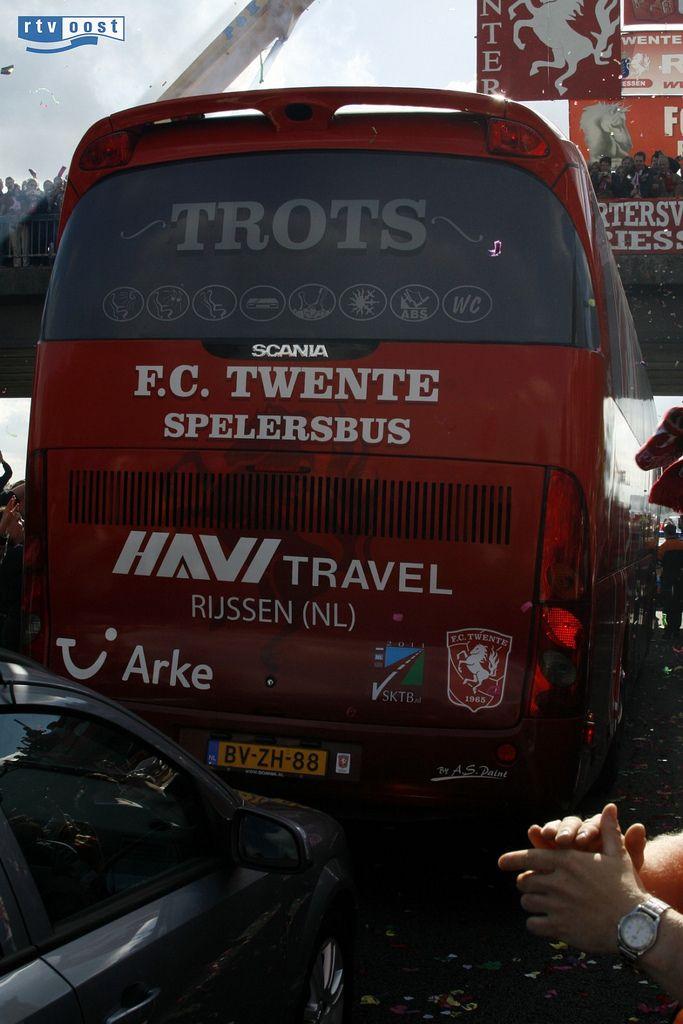 Spelersbus, FC Twente, Enschede, Overijssel.