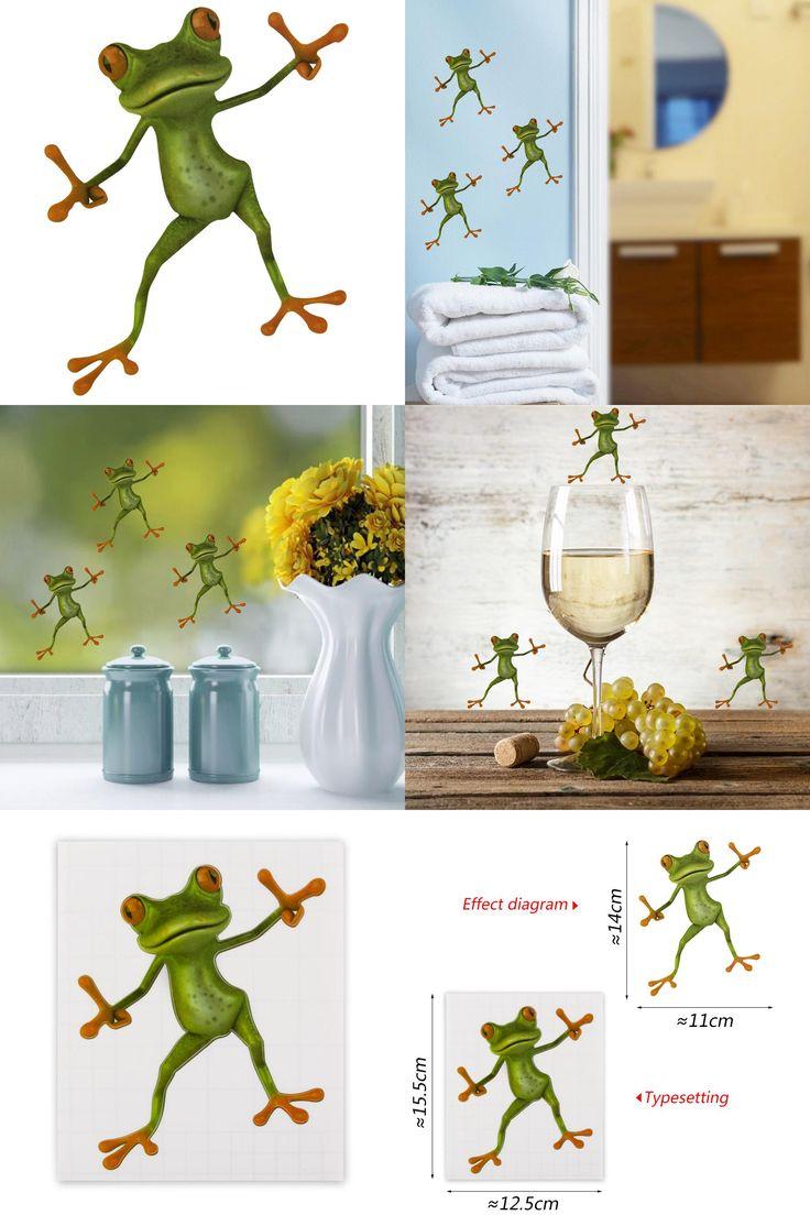 Frog bathroom set -  Visit To Buy 1 Pcs Creative Bathroom Toilet Seat Sticker Diy Novelty Animal Green