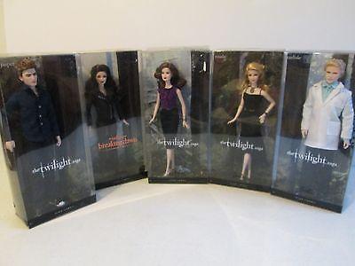 Barbie Twilight Breaking Dawn Lot 5dolls Esme Jasper Rosalie Carlisle Bella NRFB