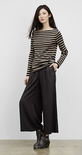 Our Favorite Fall Looks & Styles for Women | EILEEN FISHER - love these pants, I had several in this style long ago. It flows and functions.