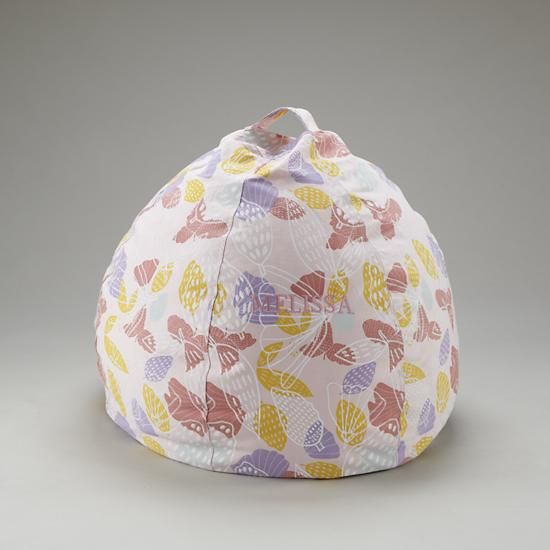 Love the print on this beanbag to bring some additional colors into the room, also provides a comfy seat for reading and playing in the long winters.
