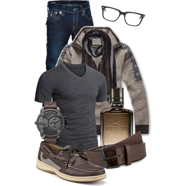 Men's Casual #7 by jacci0528 on Polyvore featuring Sperry Top-Sider, Doublju, True Religion, Hollister Co., 21 Men, Tom Ford, casual, outfit, mens and menswear