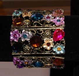 """Metalen  Armband  multicolor GOUD  """"Flower Princess  """" met gekleurde…"""