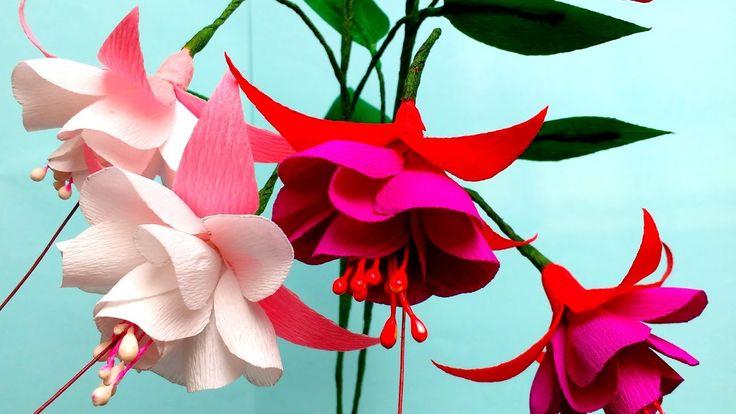 600 best paper flower videos images by vijai sri on pinterest how to make paper flower fuchsia double flower mightylinksfo