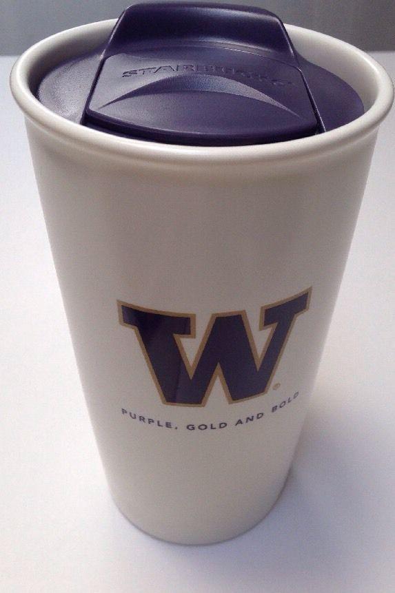 STARBUCKS University Washington Purple Gold Huskies 2014 Travel Mug #Starbucks #Huskies