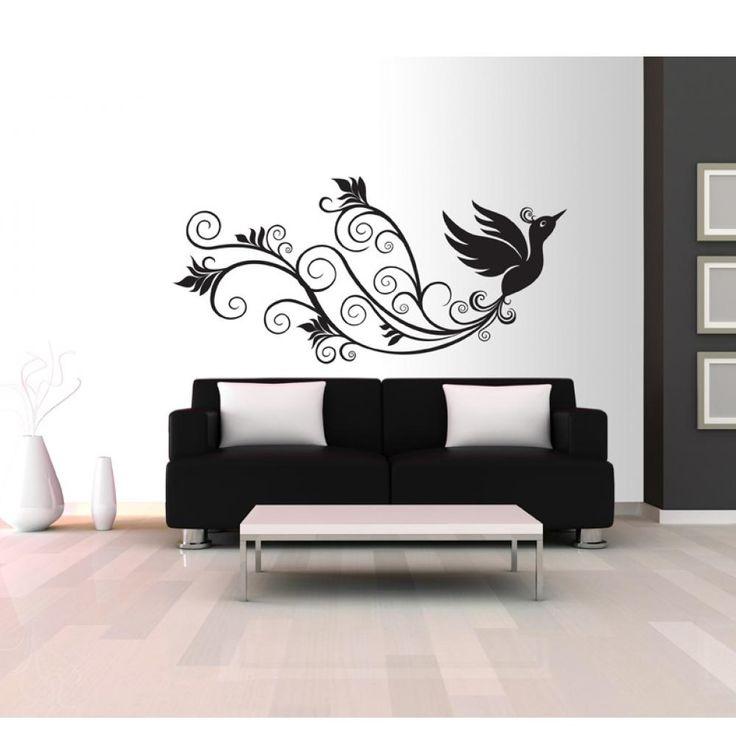 ¿Estás cansado de decoraciones de pared tradicionales? Elige vinilo con el tema popular, que es muy fácil para pegar en la pared o puerta #vinilo #vinilos #vinilopared #pájaro #temaanimal #decoracionmoderna #artgeist