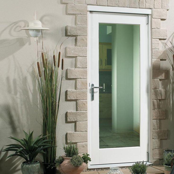 External pattern 10 door - clear double glazing, white painted fully finished. #contemporaryglazeddoor #homedoor #contemporaryhomedoor