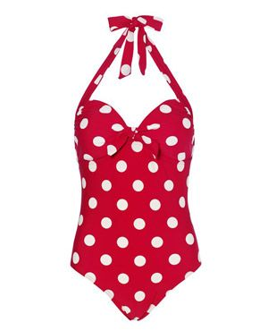 Classic Pin Up Style!:: Red Polka Dot Swimsuits:: Vintage Bathing Suits:: Retro Swimwear #ZenniOptical