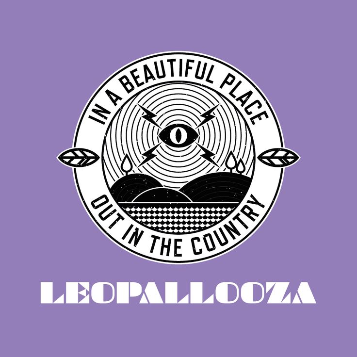 T-shirt design for the Leopallooza music festival in Cornwall