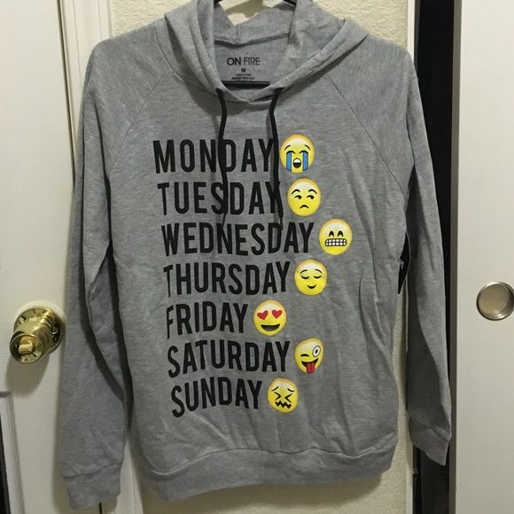 Cute emoji hoodie New !! Cute emoji hoodie . Comfy & super soft :) 100% cotton Sweaters