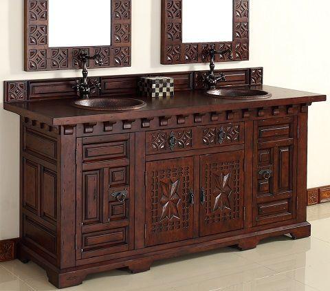 """Moroccan Style Bathroom Vanities   Monterey 72"""" Bathroom Vanity With Wood Top From James Martin Furniture"""