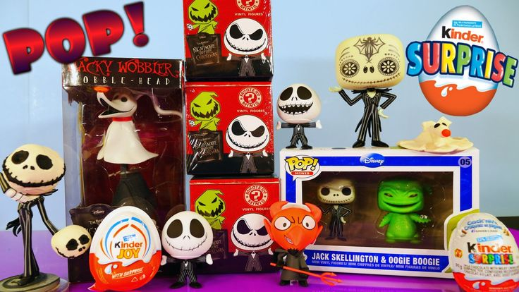 Funko Pop The Nightmare Before Christmas Toys Unboxing + Kinder Surprise...