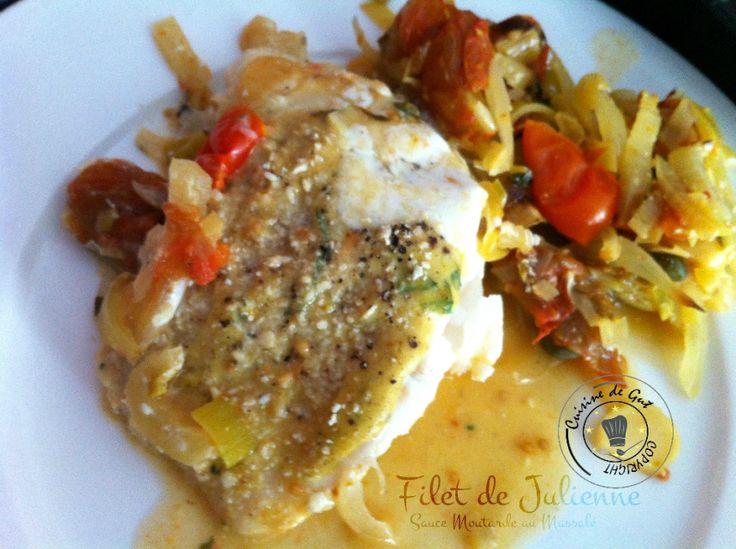 Filet de julienne sauce moutarde au massal filet de - Cuisiner filet de julienne ...