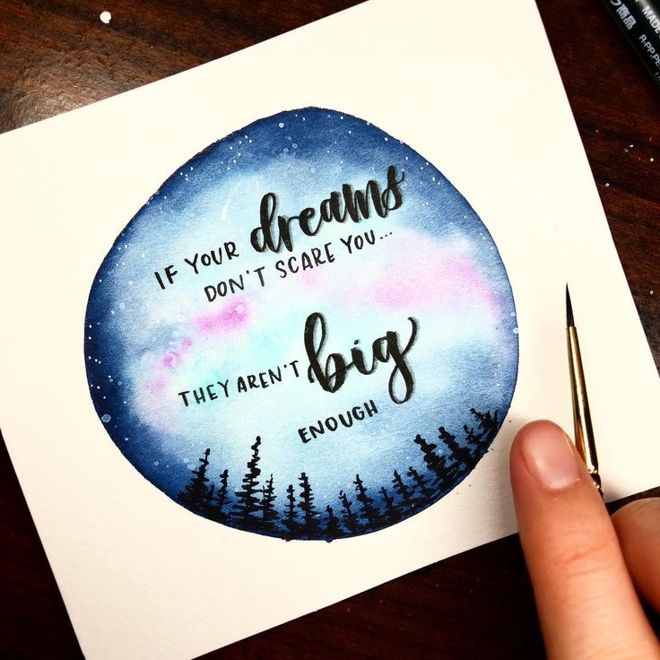 This quote always gets to me. ❤️Dreams should be scary. Having the courage to go after them is the hard part and the best part.  . . Also, public service announcement: straight lines are still hard ‍♀️. . . . . . . Materials: @prima_watercolor pastel + decadent pies, @tombowusa fudenosuke, @cansonpaper cold press watercolor paper. . . . . . . . . . #calligraphy #moderncalligraphy #creativelettering #handlettering #handlettered #handletter #brushlettering #brushcalligraphy #lettering #b