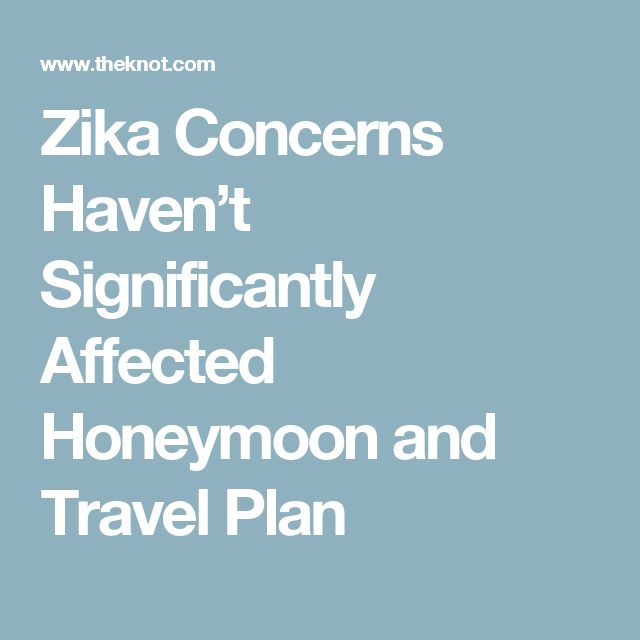 Zika Concerns Haven't Significantly Affected Honeymoon and Travel Plan