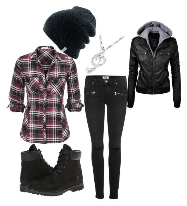 """""""Chilly Wear"""" by marshalee9223 ❤ liked on Polyvore featuring Paige Denim, Timberland, Coal and MaBelle"""