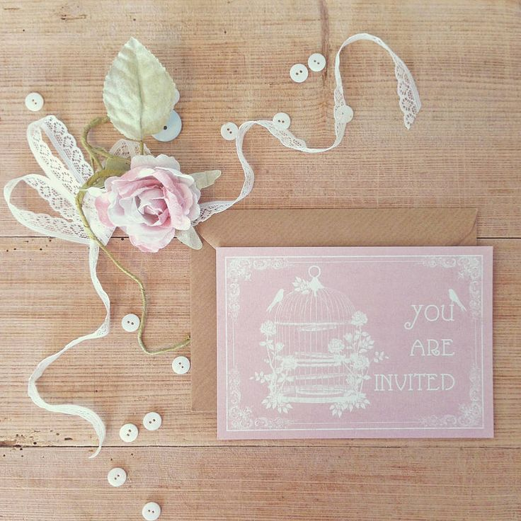 pastel birdcage wedding invitation by lucy ledger designs   notonthehighstreet.com