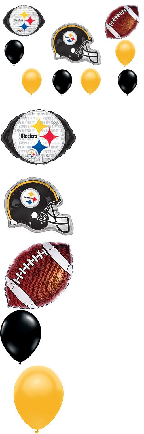 Pittsburgh Steelers Football Birthday Party Balloons Decorations Supplies