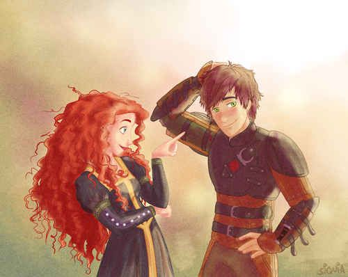 Merida and Hiccup. That needs to happen. I ship it it needs to happen!!