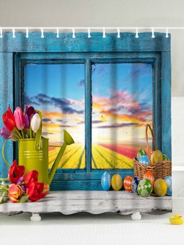 GET $50 NOW   Join RoseGal: Get YOUR $50 NOW!http://www.rosegal.com/shower-curtains/easter-eggs-window-print-mildew-1074354.html?seid=3634767rg1074354