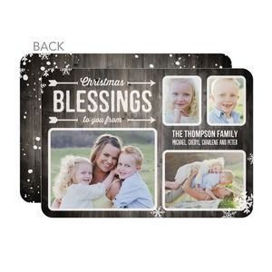 Custom Christmas Cards and Holiday Photo Card Templates.  Add your own family photo and custom text for the perfect Christmas card.