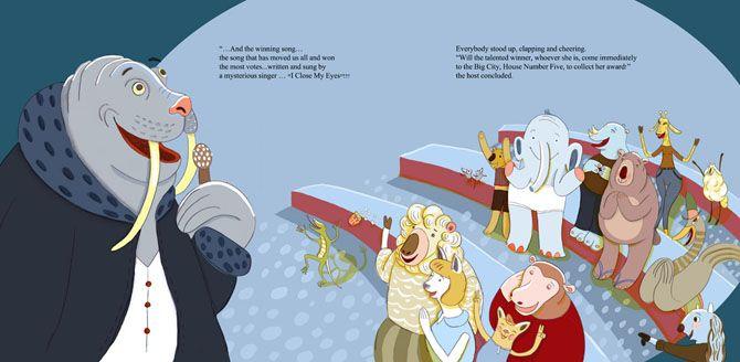 """Orit Bergman illustration for her book, """"Lola's Song""""."""