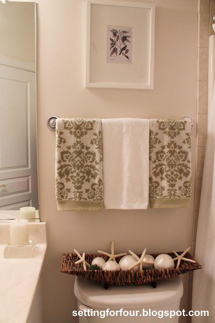 How to create a spa like bathroom! Lots of decor tips here.
