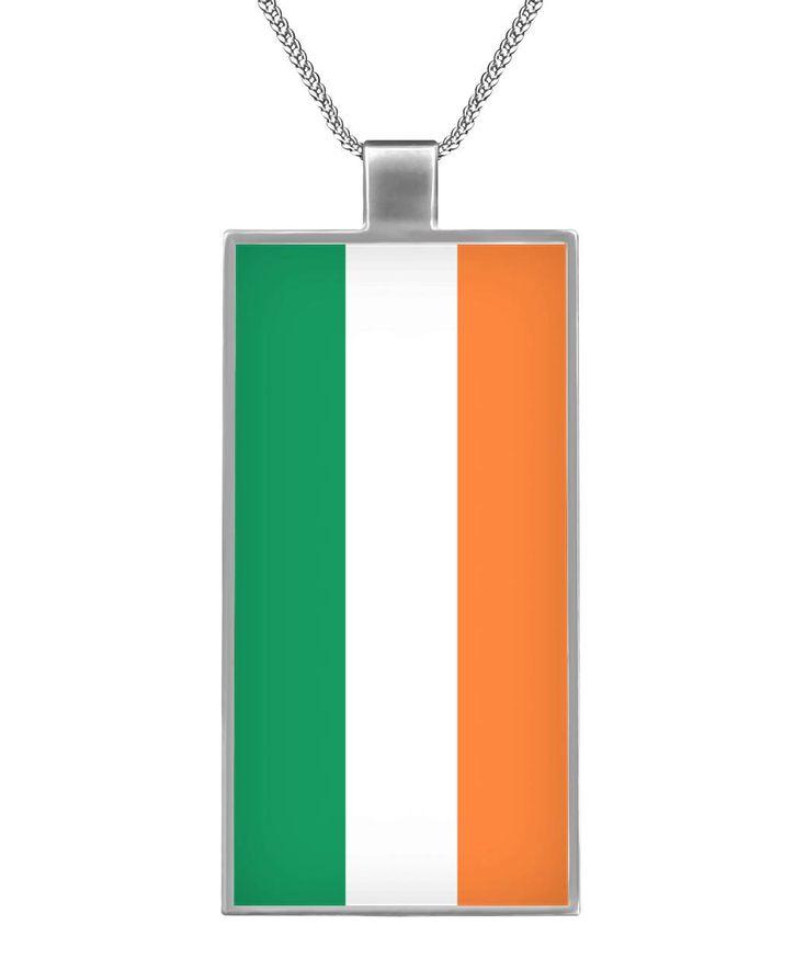#Ireland Flag Necklace- #Irish Pride Gift. #IrishPride,#IrelandGift,#IrishLove,#IrishNecklace