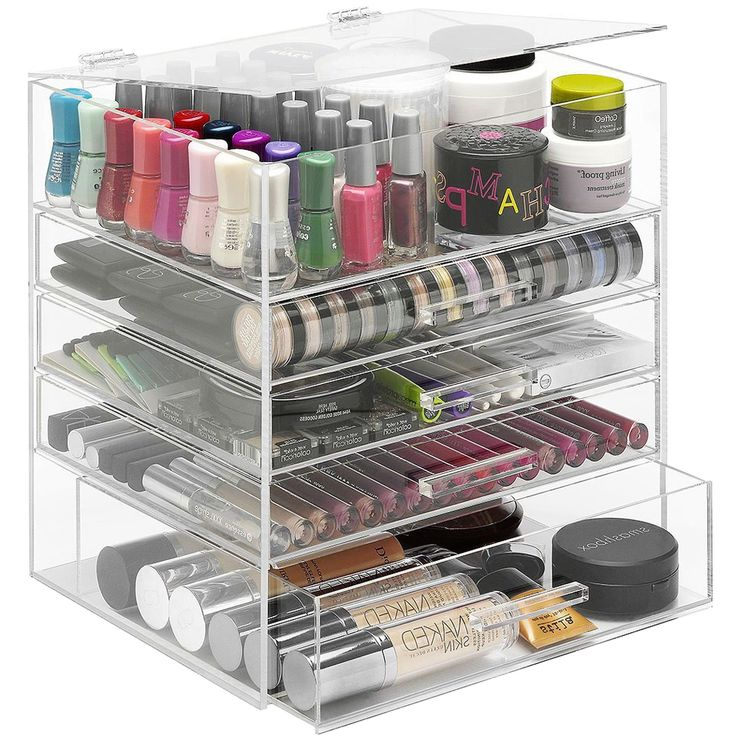 The Acrylic Makeup Drawers offers optimum storage space for all your  cosmetic supplies and makeup accessories.