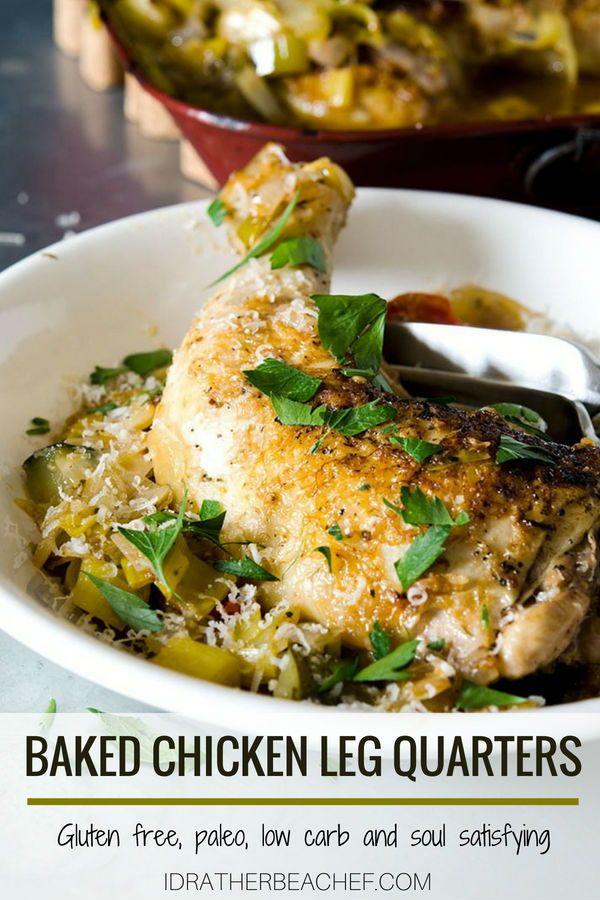 Fantastic Baked Chicken Leg Quarters Recipe Low Carb Keto