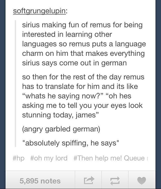 sirius and remus relationship problems