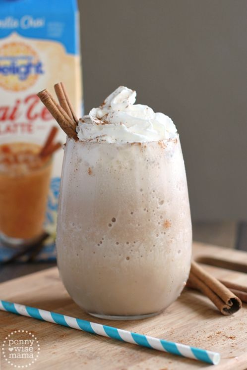 Frozen Vanilla Chai Tea Latte - super easy recipe with only 2 ingredients!