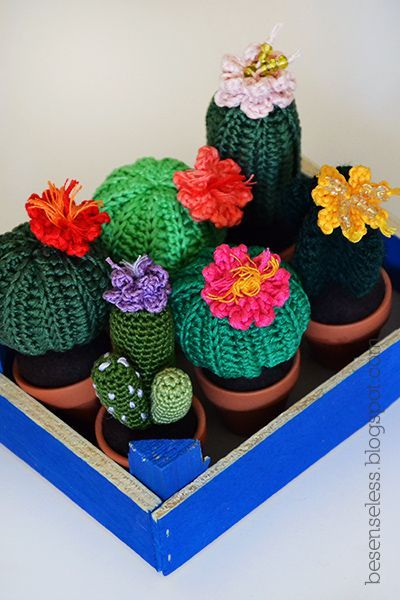 Finally, houseplants that never die. Check out this crochet cactus round up from Sugar Bee Crafts! Try them with Vanna's Choice and Bonbons!