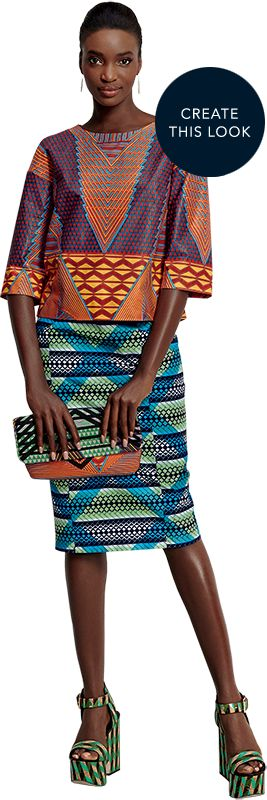 Prêt-à-Créer - By Vlisco   For the very first time you can create a Vlisco fashion look by yourself or, if you prefer, hand it over to your tailor or stylist. Each Prêt-à-Créer pre-pack contains a combination of 2 & 2 yards, or 2 & 4 yards of hand selected complementary fabrics. You'll discover two exclusive patterns to create both the top and the skirt of your outfit inside.