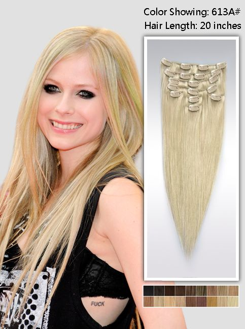 The 25 best 20 inch hair extensions ideas on pinterest clip in 20 inch blonde straight clip in hair extensions 115g uss613a20 pmusecretfo Gallery