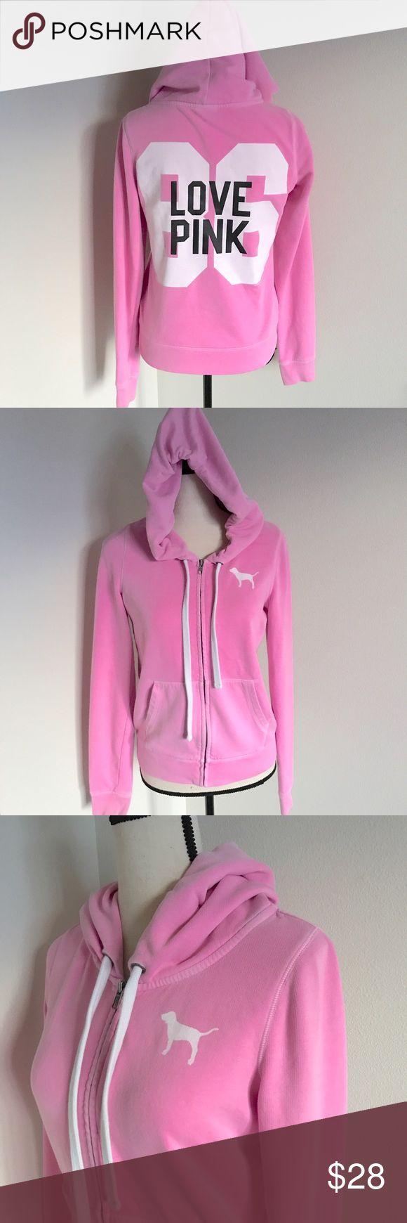 PINK hoodie PINK zip up hoodie ~ excellent condition PINK Victoria's Secret Tops Sweatshirts & Hoodies