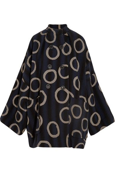 Vivienne Westwood Anglomania - Joan Printed Cotton-blend Coat - Navy - L/XL