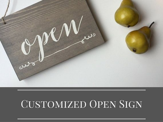 Customizable Open & Closed Sign | Storefront Sign | Studio Decor | Yoga Studio Decor | Studio Open Sign | Small Open Sign | In Session | Yoga In Session Sign | Yoga In Process | Massage In Session Sign | Massage Sign | Closed Massage Sign | Treatment In S