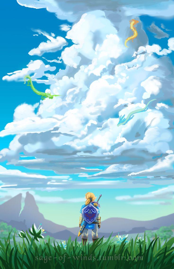 Zelda iphone wallpaper tumblr - The Legend Of Zelda Breath Of The Wild Link And Dragons